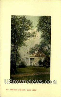 Mansion East View - Mount Vernon, Virginia VA Postcard