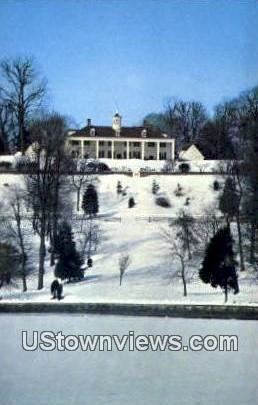 View From Potomac River - Mount Vernon, Virginia VA Postcard