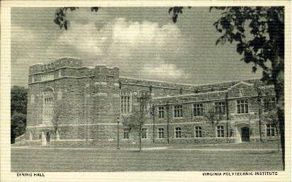 Dining Hall - Misc, Virginia VA Postcard
