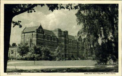 Davidson Hall - Misc, Virginia VA Postcard
