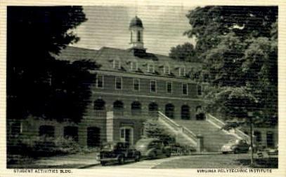 Student Activities Building - Misc, Virginia VA Postcard
