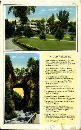 The Natural Bridge of Virginia - Misc Postcard