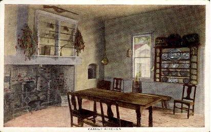 Family Kitchen - Misc, Virginia VA Postcard