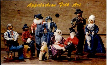Appalachian Folk Art - Misc, Virginia VA Postcard