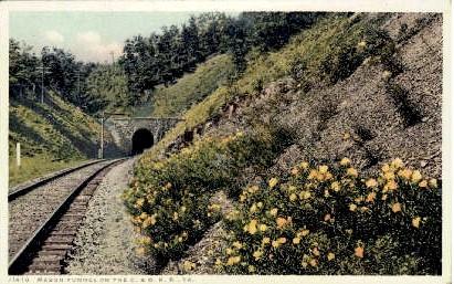 Mason Tunnel - Misc, Virginia VA Postcard