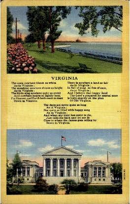 Virginia - Misc Postcard