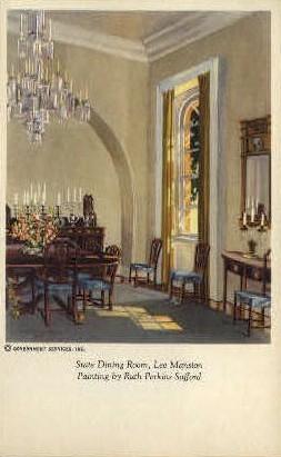 State Dining Room - Misc, Virginia VA Postcard