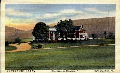 Shenvalee Hotel - New Market, Virginia VA Postcard