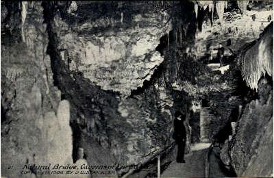 Natural Brigde Caverns - Natural Bridge, Virginia VA Postcard