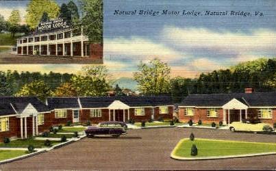 Motor Lodge - Natural Bridge, Virginia VA Postcard