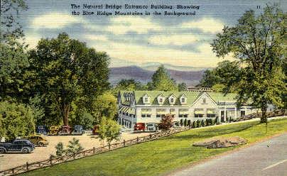 Entrance Building - Natural Bridge, Virginia VA Postcard