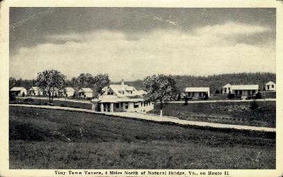 Tiny Town Tavern - Natural Bridge, Virginia VA Postcard