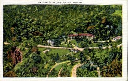 Air View of Natural Bridge - Virginia VA Postcard