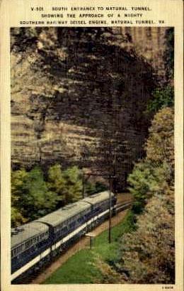 South Entrance To Natural Tunnel - Natural Bridge, Virginia VA Postcard