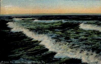 A Heavy Sea - Norfolk, Virginia VA Postcard