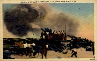 Fort Story - Norfolk, Virginia VA Postcard