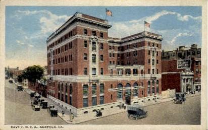 Navy Y. M. C. A - Norfolk, Virginia VA Postcard