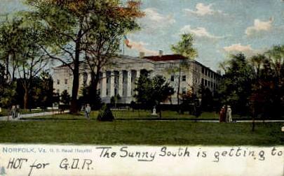 Naval Hospital - Norfolk, Virginia VA Postcard