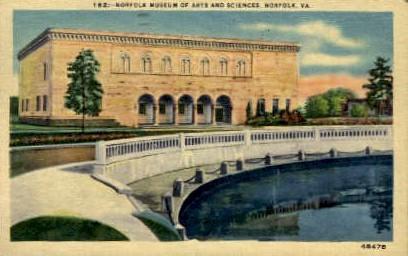 Norfolk Museum Of Arts And Sciences - Virginia VA Postcard
