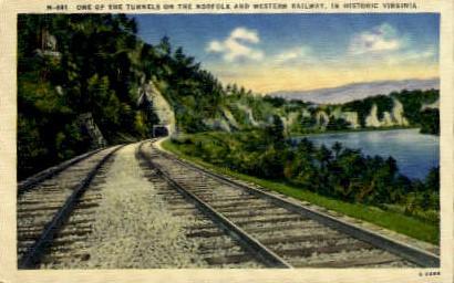 Tunnel - Norfolk, Virginia VA Postcard