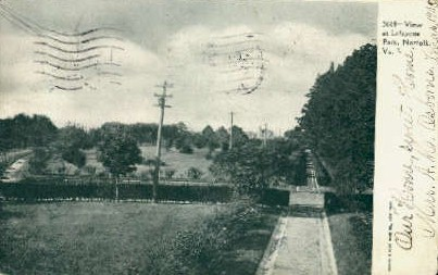 View At Lafayette Park - Norfolk, Virginia VA Postcard