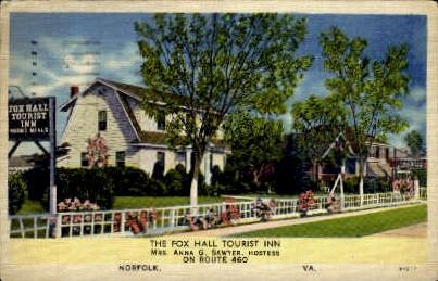 Tourist Inn - Norfolk, Virginia VA Postcard