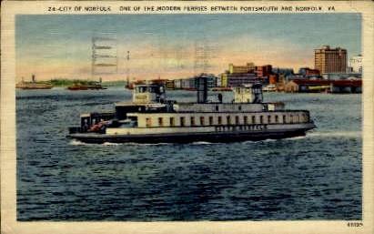 Modern Ferrie - Norfolk, Virginia VA Postcard