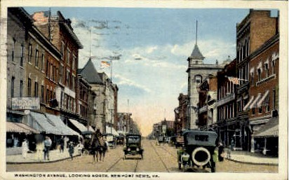 Washington Avenue - Norfolk, Virginia VA Postcard
