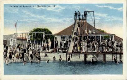Bathing At Lynhaven - Norfolk, Virginia VA Postcard