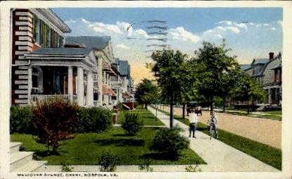 Westover Avenue - Norfolk, Virginia VA Postcard