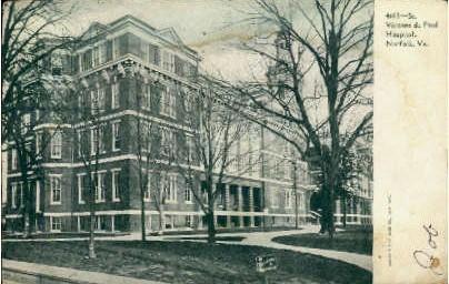 Vincent De Paul Hospital  - Norfolk, Virginia VA Postcard