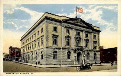 Post Office - Norfolk, Virginia VA Postcard