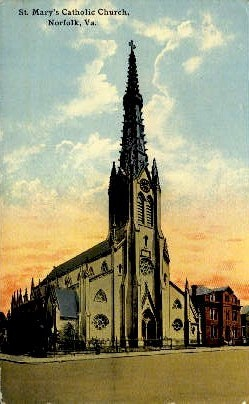 St. Mary's Catholic Church - Norfolk, Virginia VA Postcard