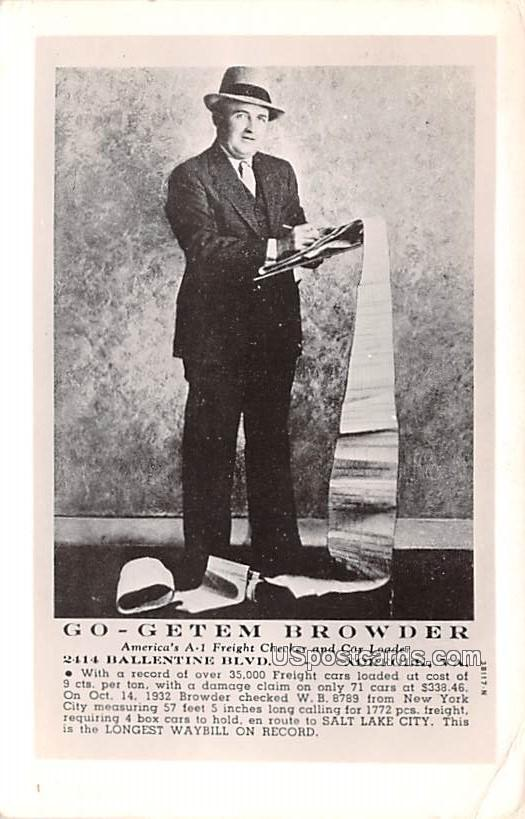 Go Getem Browder - Norfolk, Virginia VA Postcard
