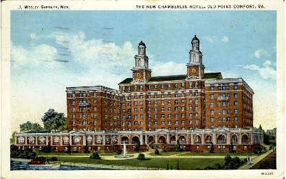 The New Chamberlin Hotel - Old Point Comfort, Virginia VA Postcard