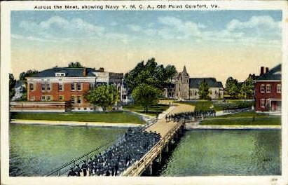 Navy Y. M. C. A - Old Point Comfort, Virginia VA Postcard