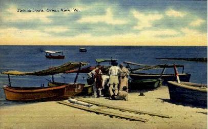 Fishing Boats - Ocean View, Virginia VA Postcard