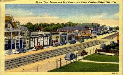 Ocean View Avenue - Virginia VA Postcard