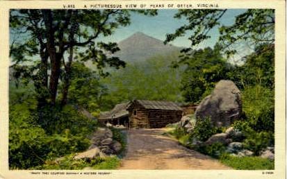 Peaks of Otter - Virginia VA Postcard