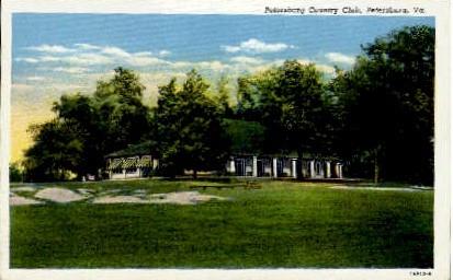Petersburg Country Club - Virginia VA Postcard
