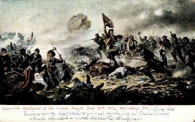 The Battlefield of Crater - Petersburg, Virginia VA Postcard