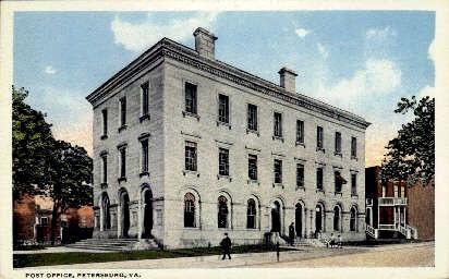 Post Office - Petersburg, Virginia VA Postcard