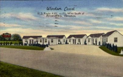 Windsor Court - Petersburg, Virginia VA Postcard