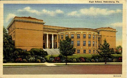 High School - Petersburg, Virginia VA Postcard