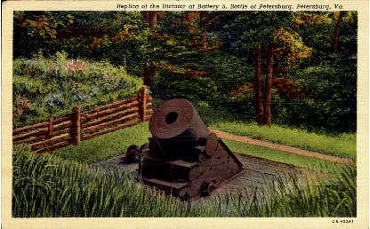 Replica of the Dictator at Battery - Petersburg, Virginia VA Postcard