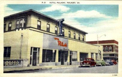 Hotel Pulaski - Virginia VA Postcard