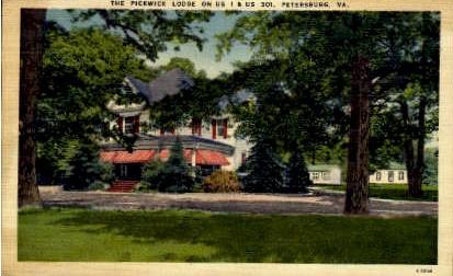The Pickwick Lodge - Petersburg, Virginia VA Postcard