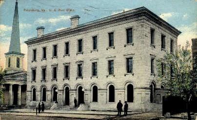 U. S. Post Office - Petersburg, Virginia VA Postcard