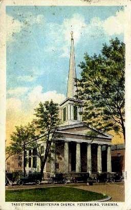 Tabb Street Presbyterian Church - Petersburg, Virginia VA Postcard