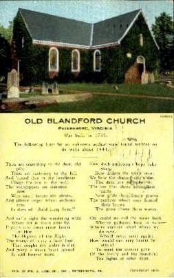 The Blandford Church - Petersburg, Virginia VA Postcard